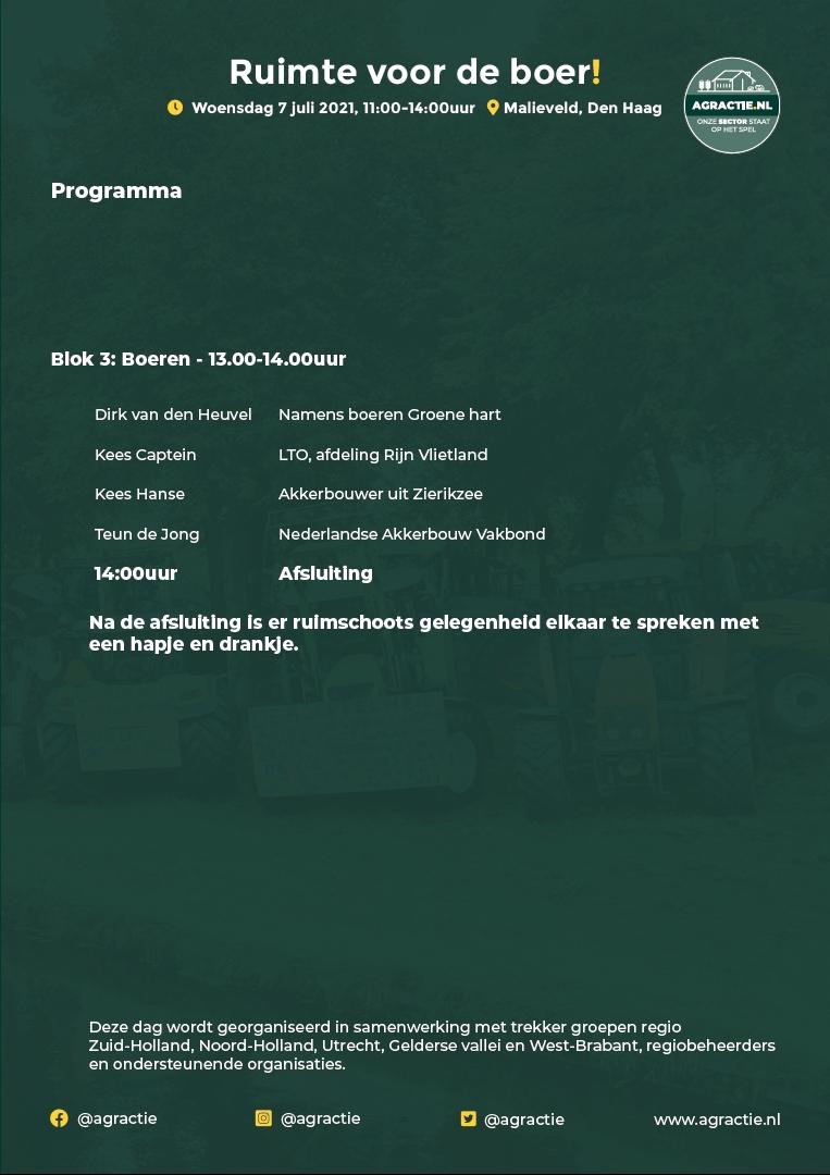 Programma 7 juli 3